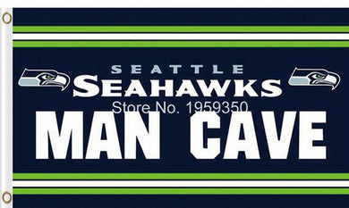 Seattle Seahawks Team Logo Sports Flags 3ftx5ft