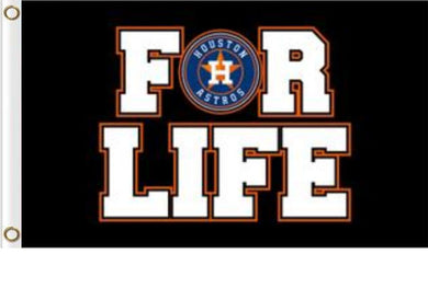 Houston Astros For Life Banner Team Flag 3x5ft