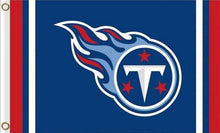 Load image into Gallery viewer, Tennessee Titans Logo Stripe Flag 3ftx5ft