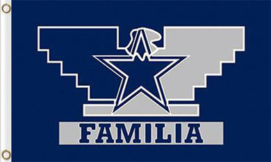 3x5ft Dallas Cowboys Familia team flags