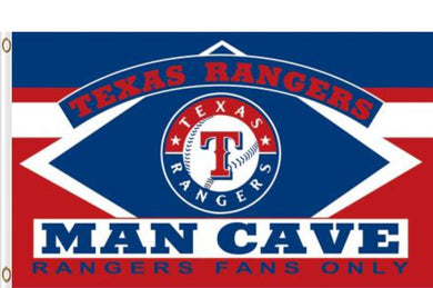 3x5ft Polyester Texas Rangers Man Cave Flag