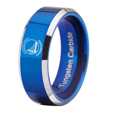8MM Blue Tungsten Golden State Warriors Championship Ring