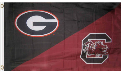 Georgia & South Carolina House Divided Flag 3ftx5ft