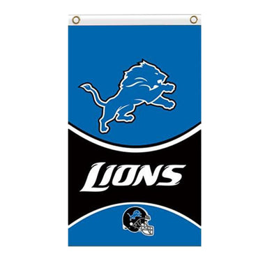 Detroit Lions flags 90x150cm with 2 Metal Grommets