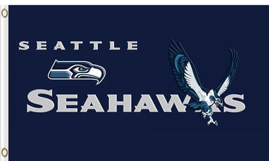Seattle Seahawks Team Logo Sports Banners Flags 3ftx5ft