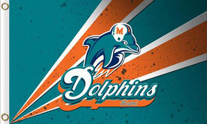 Miami Dolphins Team Logo Sports Flags 3ftx5ft
