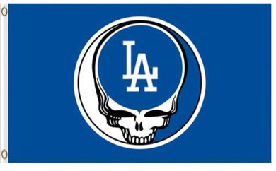 Los Angeles Dodgers Dead Skull Banner flags 3ftx5ft