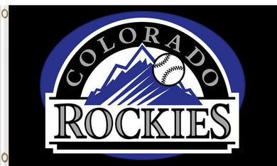 Colorado Rockies Baseball Club flags 3ftx5ft