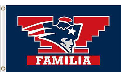 New England Patriots Familia Flag 3x5 FT