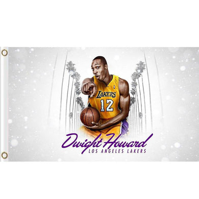 Los Angeles Lakers Players Flag 3ftx5ft