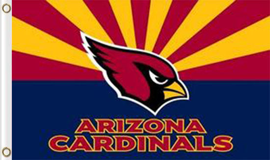 Arizona Cardinals Sports Team Flags 3ftx5ft