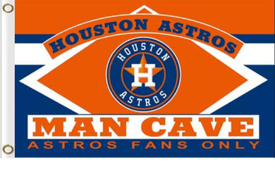 Houston Astros Man Cave Custom Flags 3x5ft