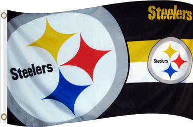 Pittsburgh Steelers two logo Flags 3ftx5ft