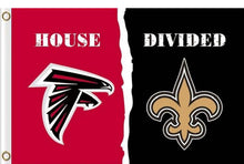 Load image into Gallery viewer, Atlanta Falcons vs New Orleans Saints House divided flag 3ftx5ft