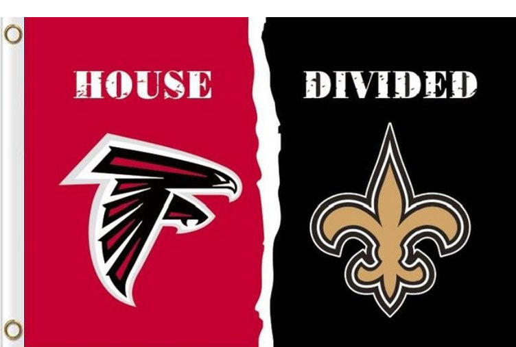 Atlanta Falcons Vs New Orleans Saints House Divided Flag 3ftx5ft Mondour