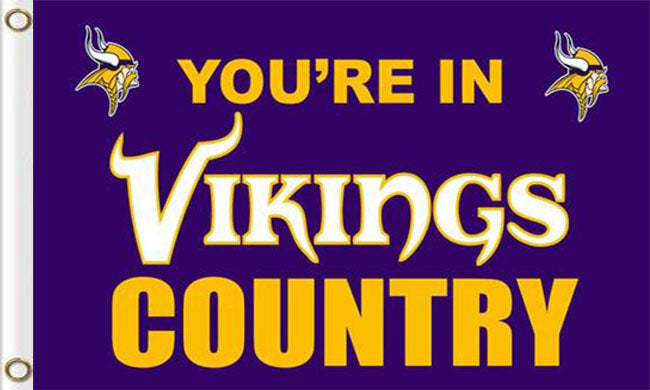 Minnesota Vikings Team Logo Sports Flags 3ftx5ft
