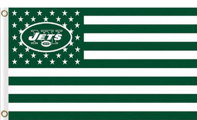New York Jets Flag Star and Stripes 3ft x 5ft