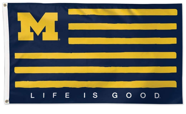Michigan Wolverines  Life is Good Flag 90*150 CM