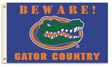 Florida Gators Beware Gator Country Banner Flag 3*5ft