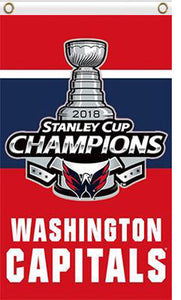 3x5ft 2018 Washington Capitals Champions Vertical Flag