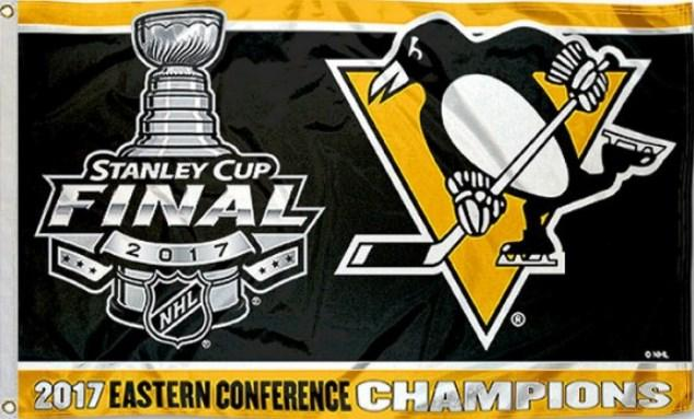 Pittsburgh Penguins 2017 Eastern Conference Champions Flag 3x5 ft