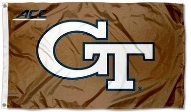 Georgia Tech Yellow Jackets ACC Brown College Flags 3*5ft