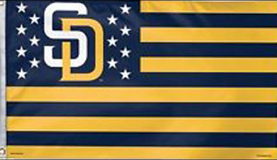 San Diego Padres Stars & Stripes Nation Banner flags 3x5ft