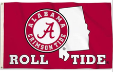 Load image into Gallery viewer, Alabama Crimson Roll TideFlag 3ftx5ft
