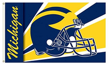 Load image into Gallery viewer, Michigan Wolverines Helmet Banner Flag 90*150 CM