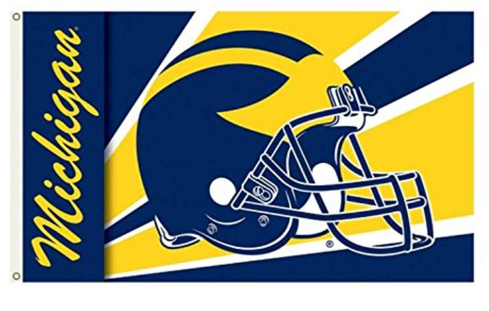 Michigan Wolverines Helmet Banner Flag 90*150 CM
