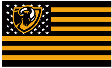VCU Rams  Stars and Stripes Flag 3x5ft
