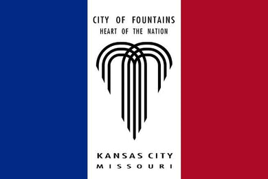Kansas City Heart Of The Nation Flags 3ftx5ft