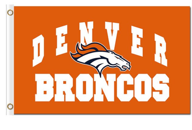 Denver Broncos Logo Orange flag Banner 3x5ft