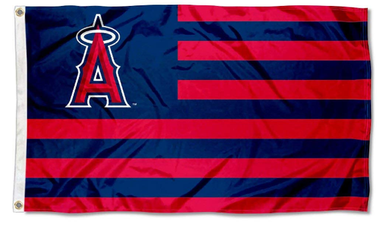 Los Angeles Angels Stars and Stripes Banner Flag 3x5ft