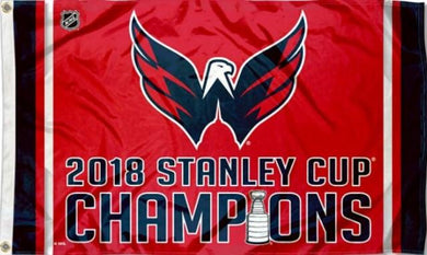 Washington Capitals 2018 Stanley Cup Champions Flag 3x5 ft