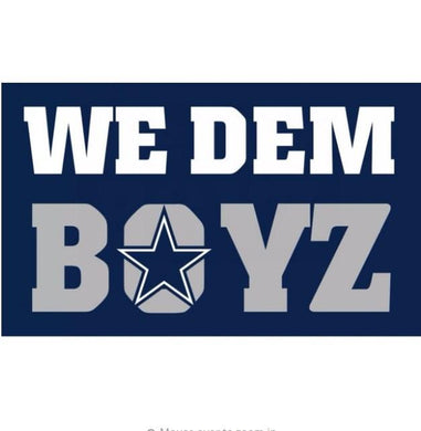 Dallas Cowboys we dem boys flags 90x150cm