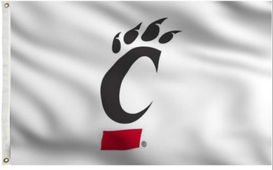 Cincinnati Bearcats White Banner Flag 3*5ft