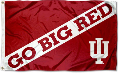 Indiana Hoosiers Go Big Red Banner Flag 3*5ft