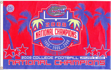 Florida Gators 2008 Champions Banner Flag 3x5ft