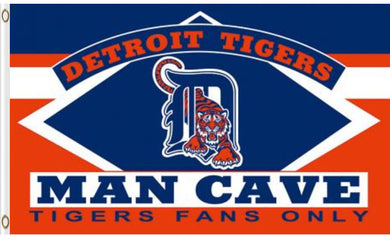 Detroit Tigers Man Cave Banner flags 3ftx5ft