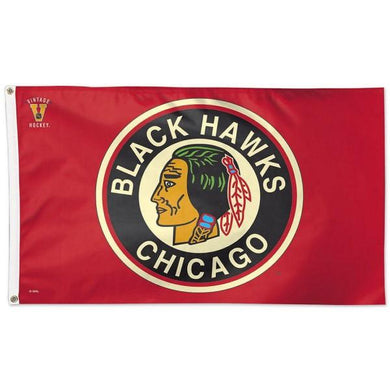 Chicago Blackhawks Vintage Flag 3x5 ft 100D