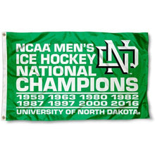 Load image into Gallery viewer, North Dakota Fighting Hawks Flag 3ftx5ft