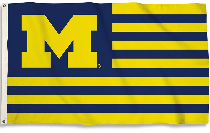 Michigan Wolverines Navy & Yellow Flag 90*150 CM