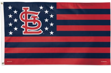 St. Louis Cardinals Star And Stripes Banner flag 3ftx5ft