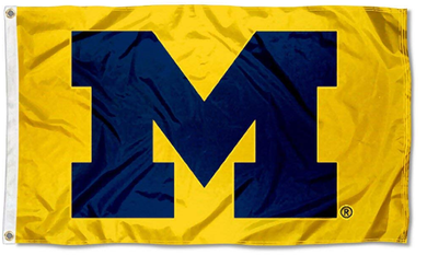 Michigan Wolverines Yellow Banner Flag 90*150 CM