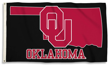 Oklahoma Sooners Black Nation Sports Flags 3*5ft