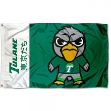 Load image into Gallery viewer, Tulane Green Wave team Flag Digital Printing