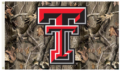 Texas Tech Red Raiders Camo Banner Flag 3ft*5ft