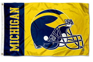 Michigan Wolverines Football Helmet Flag 90*150 CM