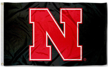Load image into Gallery viewer, Nebraska Cornhuskers Black Banner Flag 90*150 CM